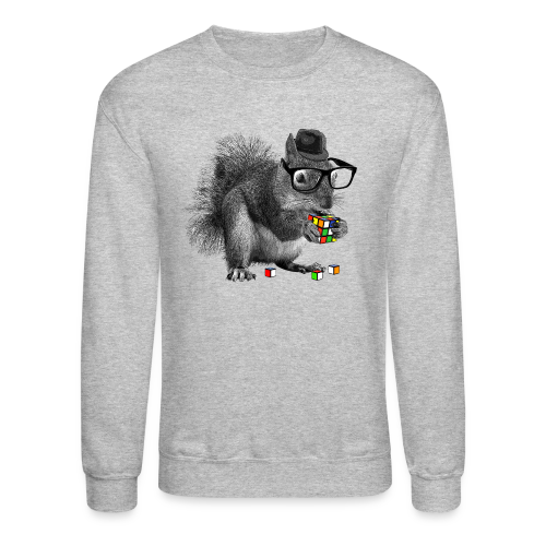 Rubik's Cube Squirrel - Crewneck Sweatshirt