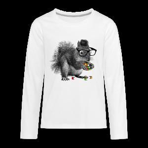 Rubik's Cube Squirrel - Kids' Premium Long Sleeve T-Shirt