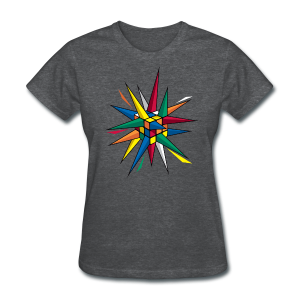 Rubik's Cube Multicolor Spikes - Women's T-Shirt