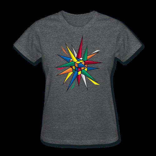 Rubik's Cube Multicolor Spikes - Women's T-Shirt