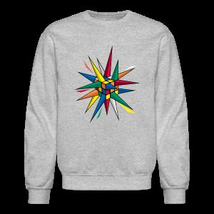 Rubik's Cube Multicolor Spikes - Crewneck Sweatshirt