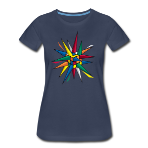 Rubik's Cube Multicolor Spikes - Women's Premium T-Shirt