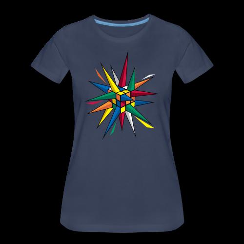 Rubik's Cube Multicolor Spikes - Women's Premium T-Shirt