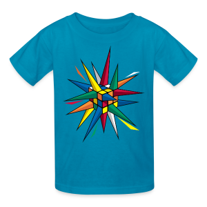 Rubik's Cube Multicolor Spikes - Kids' T-Shirt
