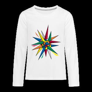 Rubik's Cube Multicolor Spikes - Kids' Premium Long Sleeve T-Shirt