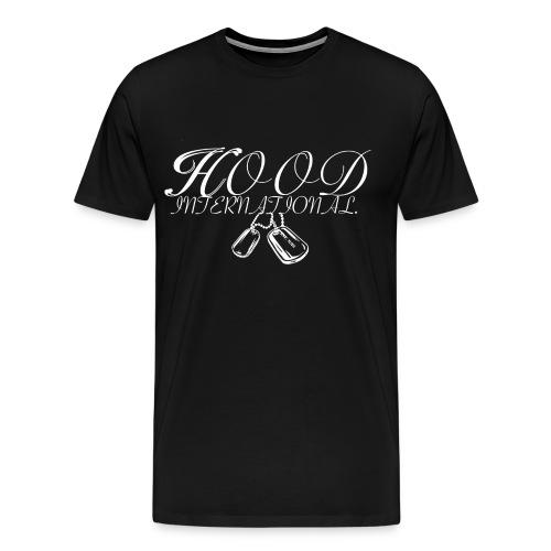 hood intl black t - Men's Premium T-Shirt