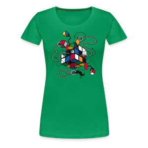 Rubik's Cube Illustration - Women's Premium T-Shirt