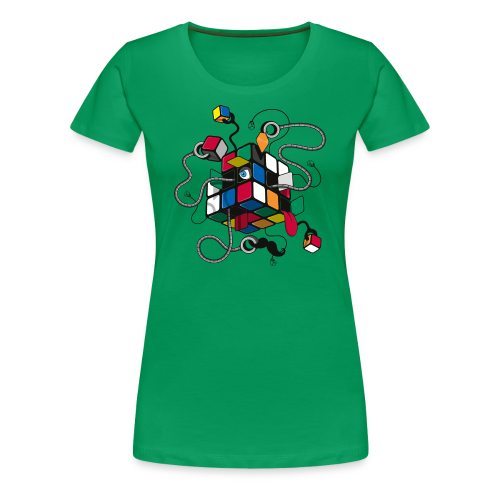 Rubik's Cube Illustration - Women's Premium T-Shirt