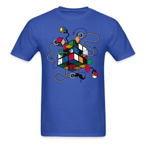 Rubik's Cube Illustration - Men's T-Shirt