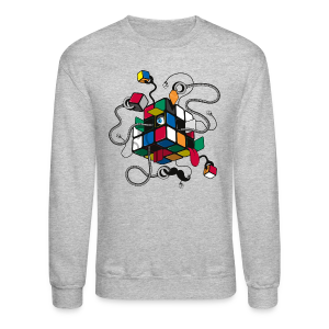 Rubik's Cube Illustration - Crewneck Sweatshirt