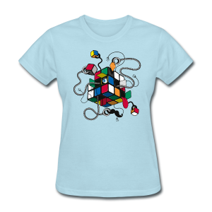 Rubik's Cube Illustration - Women's T-Shirt