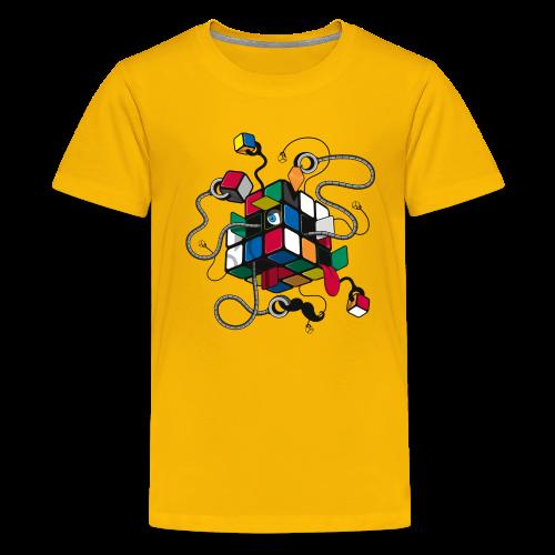 Rubik's Cube Illustration - Kids' Premium T-Shirt