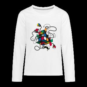Rubik's Cube Illustration - Kids' Premium Long Sleeve T-Shirt