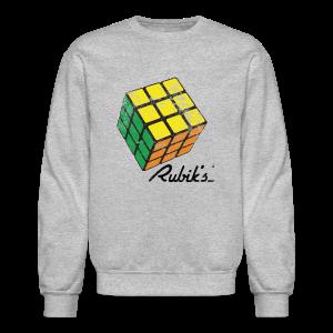 Rubik's Cube Solved Colourful Vintage - Crewneck Sweatshirt