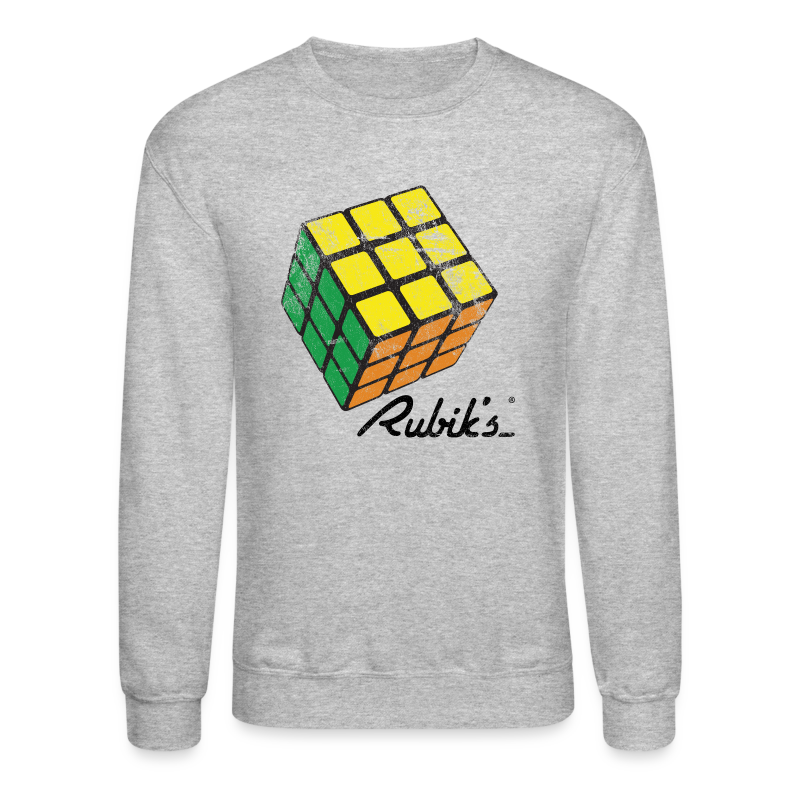 Rubik's Cube Solved Colourful Vintage - Crewneck Sweatshirt