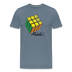 Rubik's Cube Solved Colourful Vintage - Men's Premium T-Shirt