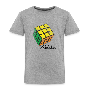 Rubik's Cube Solved Colourful Vintage - Toddler Premium T-Shirt