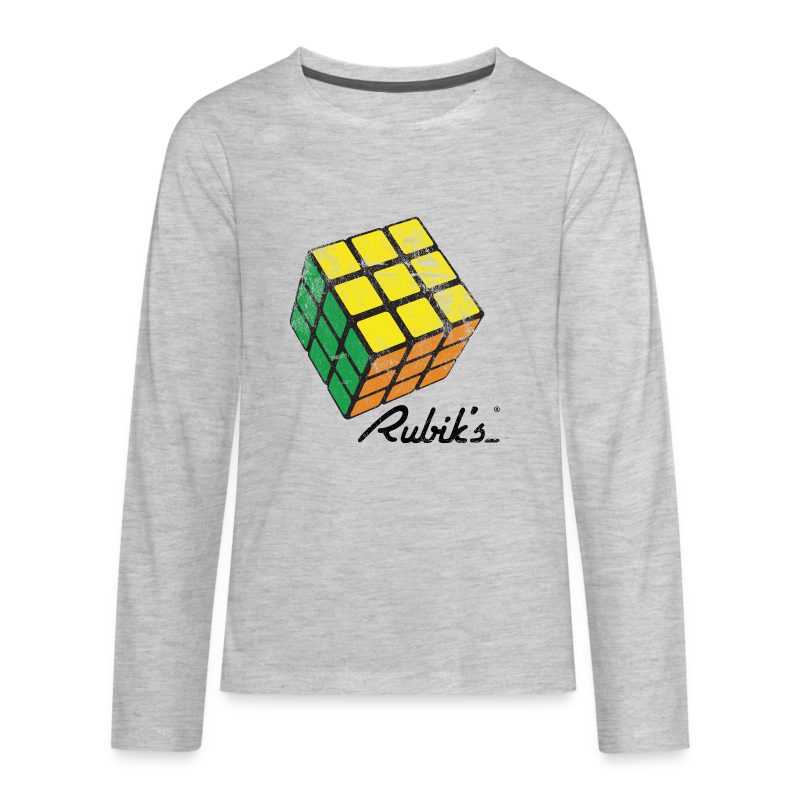 Rubik's Cube Solved Colourful Vintage - Kids' Premium Long Sleeve T-Shirt