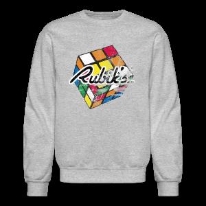 Rubik's Cube Distressed and Faded - Crewneck Sweatshirt