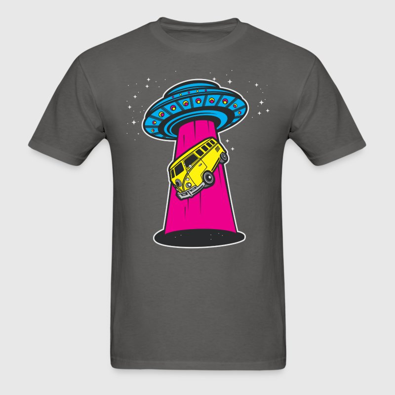 UFO Spaceship Bus Abduction T-Shirts - Men's T-Shirt