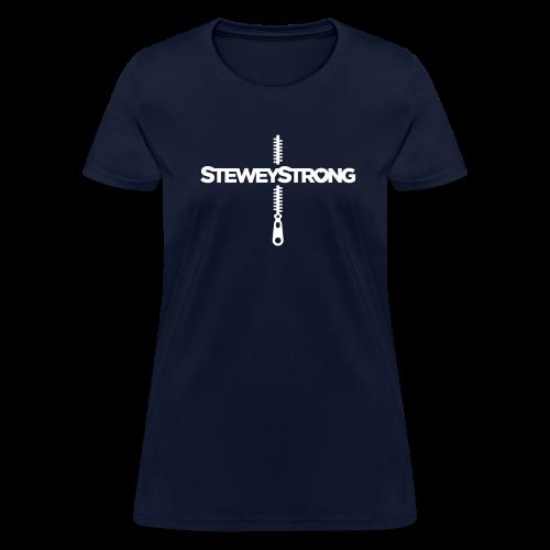 SteweyStrong - Women's - White Print - Women's T-Shirt