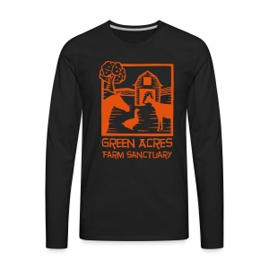 Men's Style Premium Long Sleeve - Orange Logo - Men's Premium Long Sleeve T-Shirt
