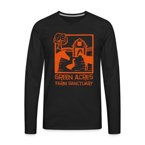 Men's Style Premium Long Sleeve - Orange Logo - Men's Premium Long Sleeve T-Shirt