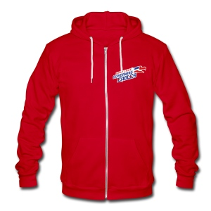 Screaming Eagles Zip Up Sweatshirt - Unisex Fleece Zip Hoodie by American Apparel