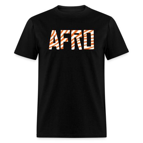 Afro Tiger Print Black T-Shirt (Men) - Men's T-Shirt