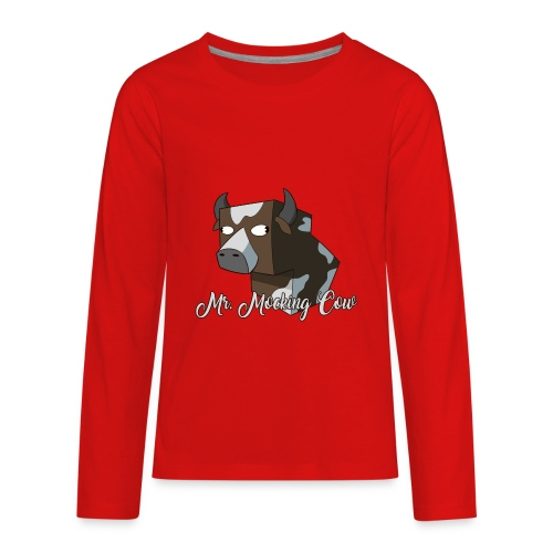 Mr. Mocking Cow - Kids' Premium Long Sleeve T-Shirt