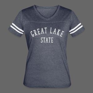Great Lake State - Women's Vintage Sport T-Shirt