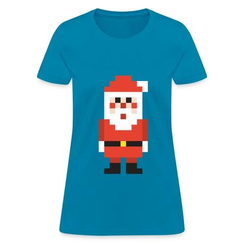 8-bit Pixel Santa Claus - Women's T-Shirt