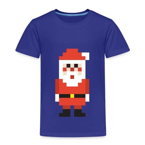 8-bit Pixel Santa Claus - Toddler Premium T-Shirt