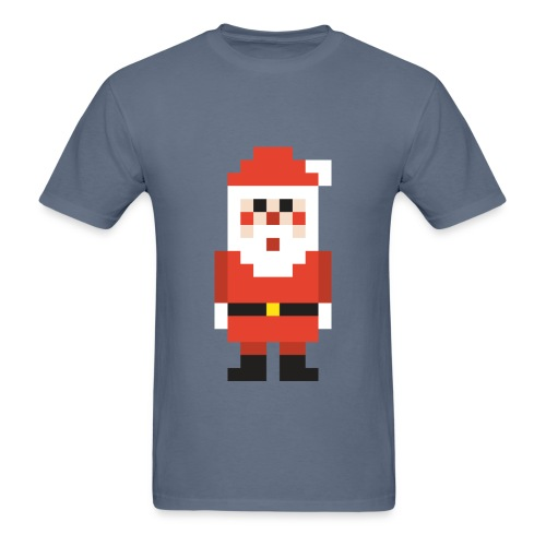 8-bit Pixel Santa Claus - Men's T-Shirt