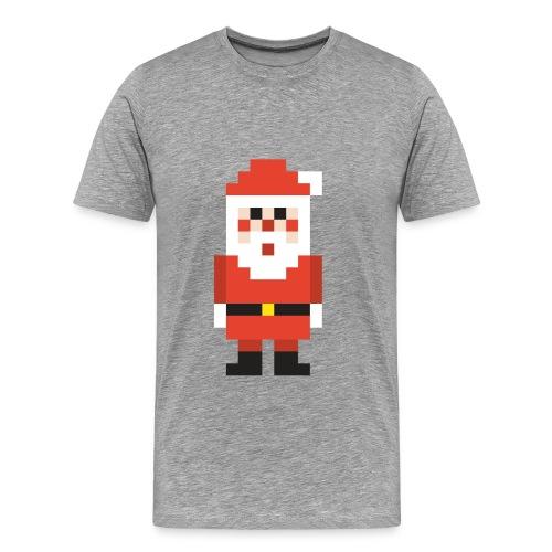 8-bit Pixel Santa Claus - Men's Premium T-Shirt