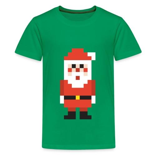 8-bit Pixel Santa Claus - Kids' Premium T-Shirt