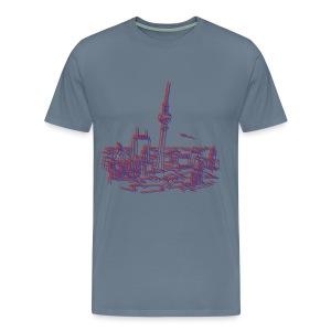 Panorama of Berlin 3D - Men's Premium T-Shirt