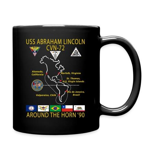 USS ABRAHAM LINCOLN CVN-72 AROUND THE HORN 1990 CRUISE MUG - Full Color Mug