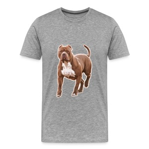 Pit bull brown 2 - Men's Premium T-Shirt