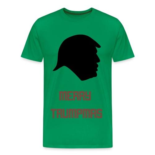 Merry Trumpmas Green  - Men's Premium T-Shirt