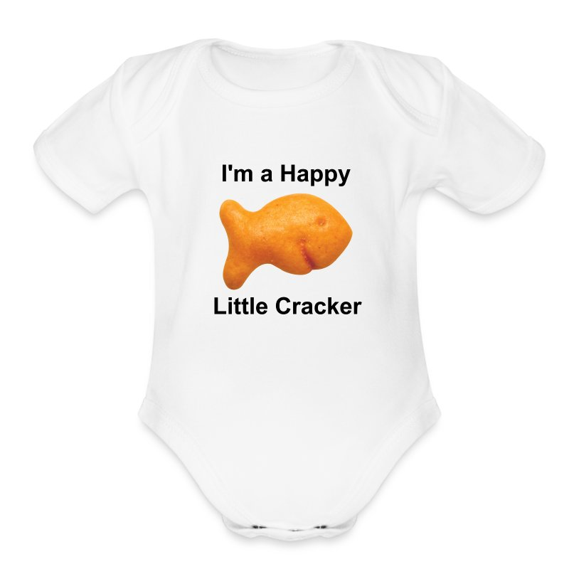 Baby's - I'm a Happy Little Cracker - Short Sleeve Baby Bodysuit