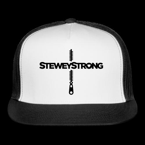 SteweyStrong - Trucker Cap - Black Print - Trucker Cap