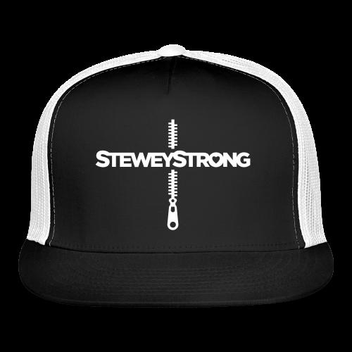 SteweyStrong - Trucker Cap - White Print - Trucker Cap
