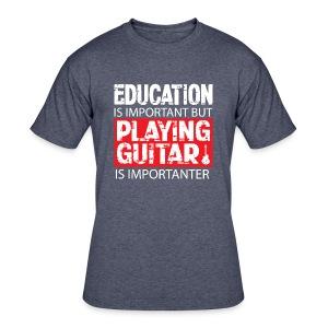 Funny Guitar is Importanter Shirt - Men's 50/50 T-Shirt