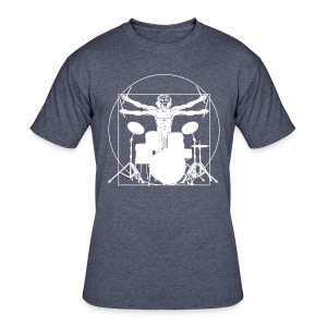 Da Vinci Playing The Drums Shirt - Men's 50/50 T-Shirt