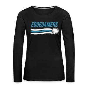 EdgeGamers Wave Long Sleeve Ladies - Women's Premium Long Sleeve T-Shirt