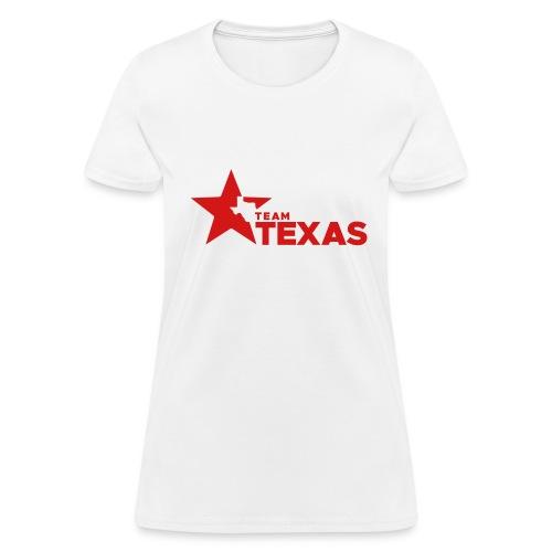 Team Texas t-shirt (women) - white and red - Women's T-Shirt