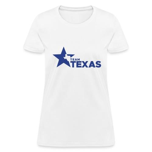 Team Texas t-shirt (women) - white and blue - Women's T-Shirt