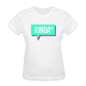 Green w/Pink KindaTV Logo Women's T-Shirt - Women's T-Shirt