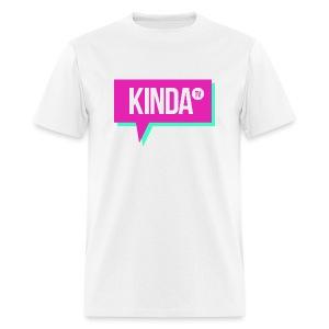Pink w/ Green KindaTV Logo Men's T-Shirt - Men's T-Shirt